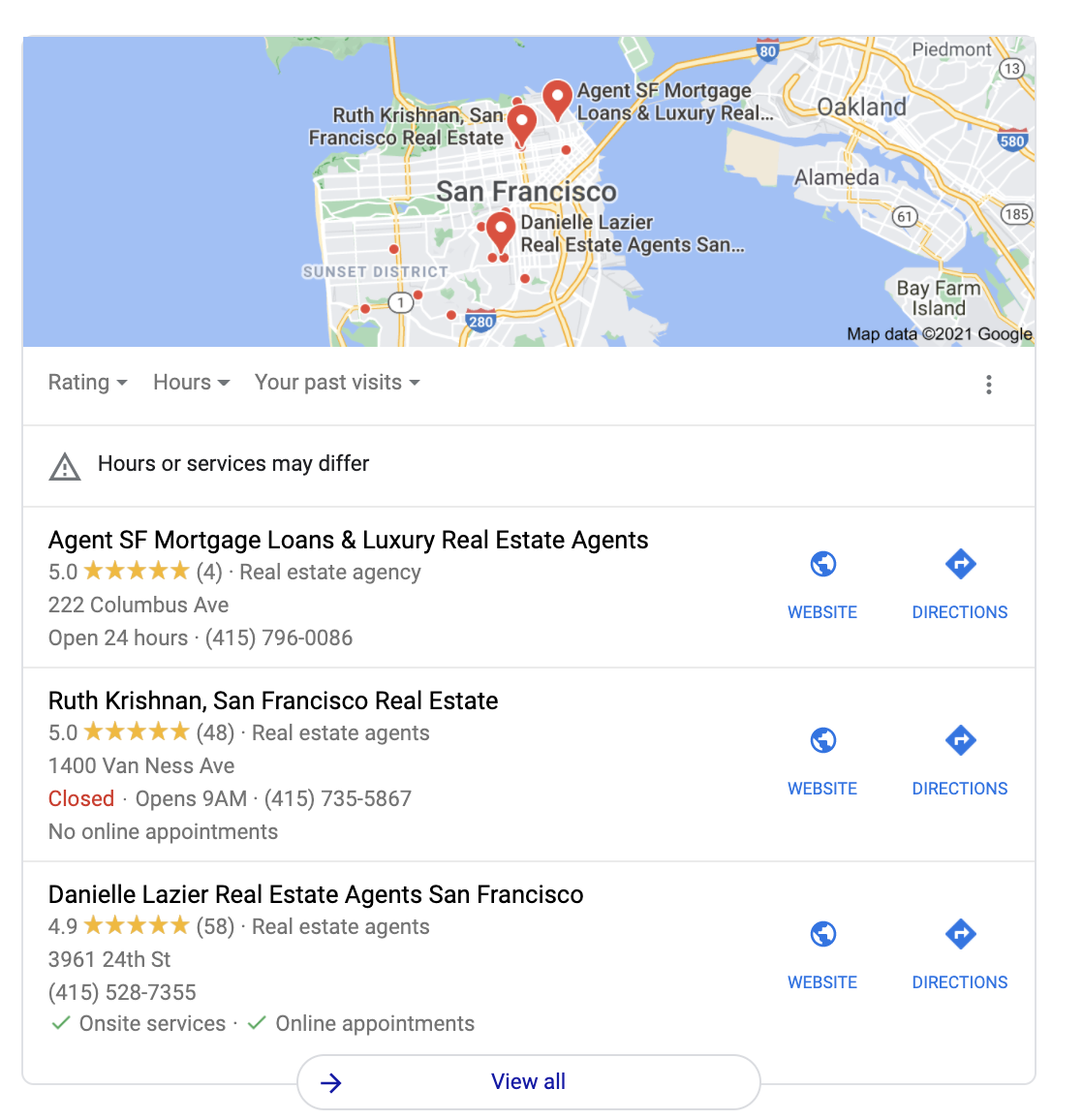 Google My Business Real Estate Agent Example